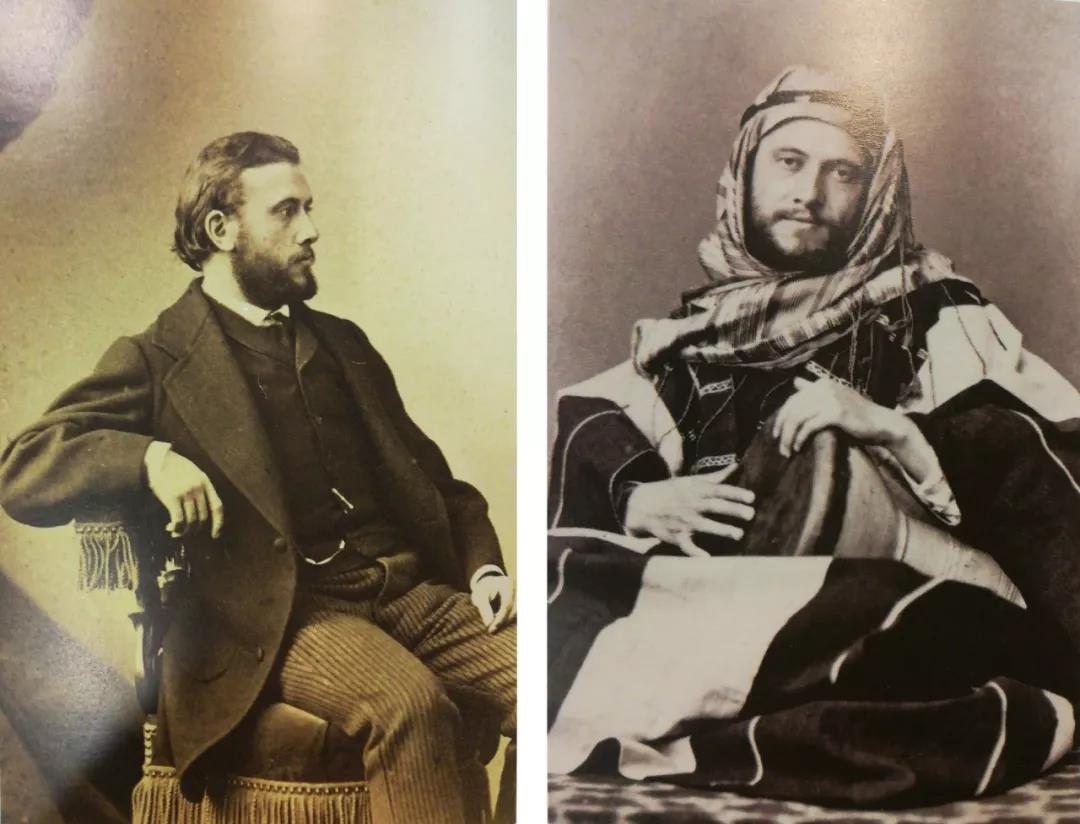 Émile Guimet(1836-1918) 爱弥尔·吉美先生的开放心灵:佩戴中东Keffiyeh头巾的吉美先生与他演奏的突尼斯鼓:Darbouka