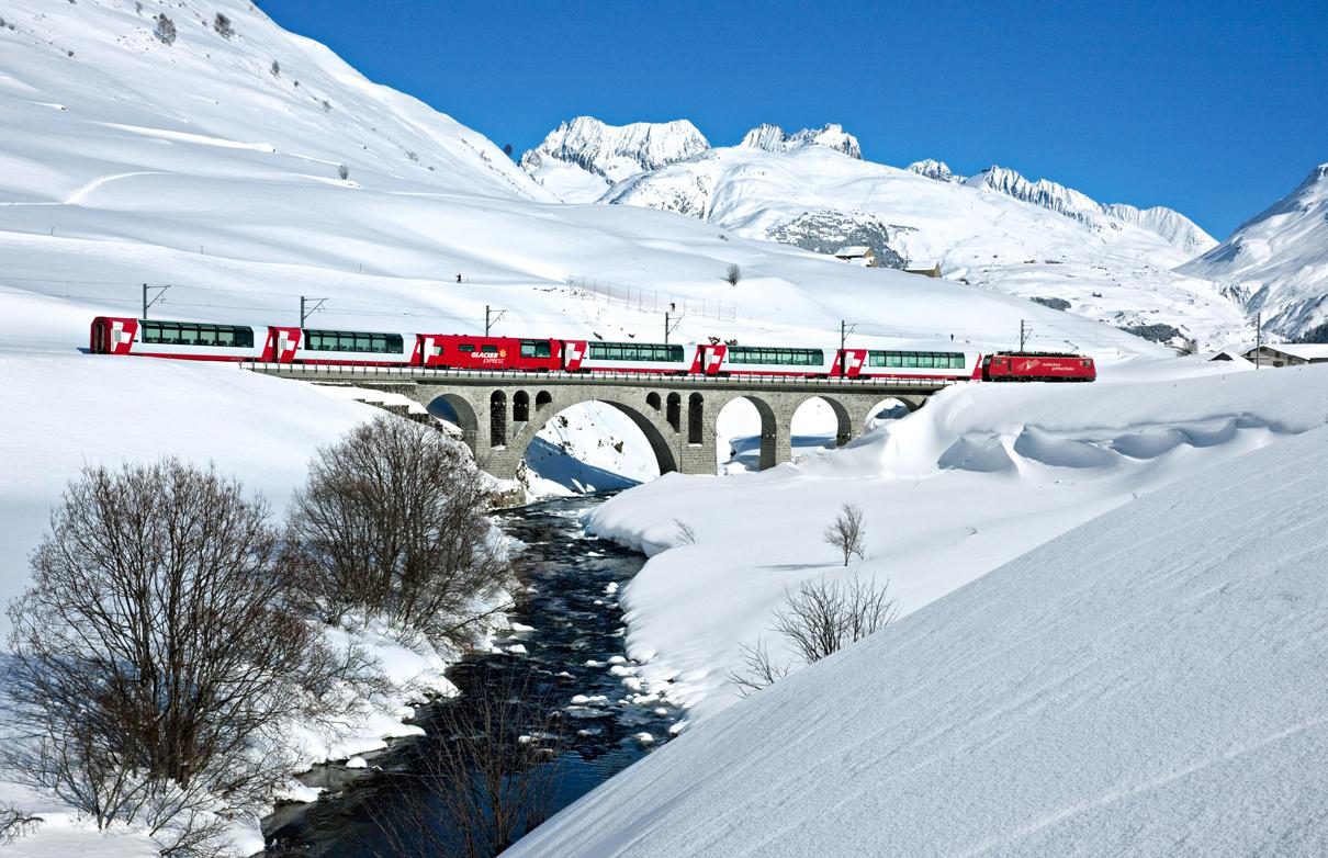 采尔马特(Zermatt)-冰川列车-安德马特 (Andermatt)-卢加诺(Lujano) (110KM)