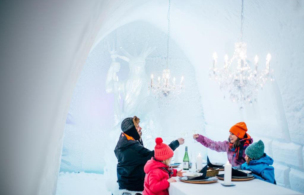 吕勒奥-基律纳丨探访艺术建筑冰酒店,冰雪世界野外活动