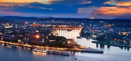 多特蒙德(Dortmund)  - 科布伦茨(Koblenz) - 莱茵河谷(Rhine Valley)-- 法兰克福(Frankfurt)